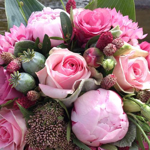 Pink-bryllup